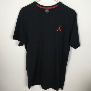 Men's Jordan Black T-Shirt, Size L
